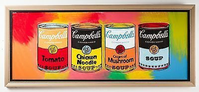 Steve Kaufman, 'Campbell's Soup Quad Original Oil Painting Pop Art Kitchen Pantry', 1996, Modern Artifact
