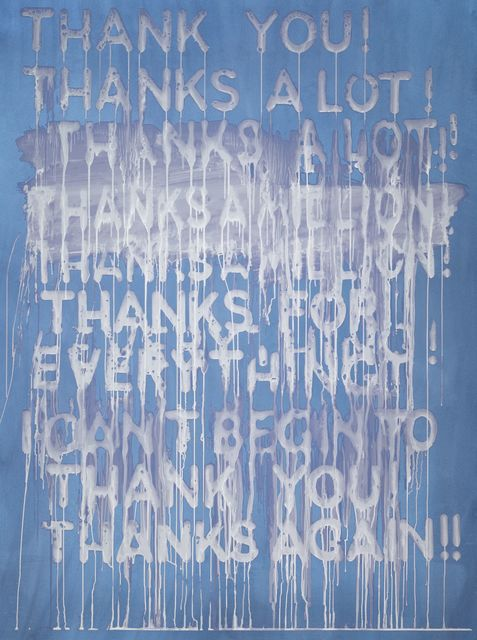 , 'Thank You (MB5017),' 2016, Galerie de Bellefeuille