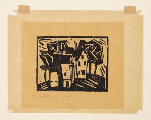 Lyonel Feininger, 'Häuser', Itineris