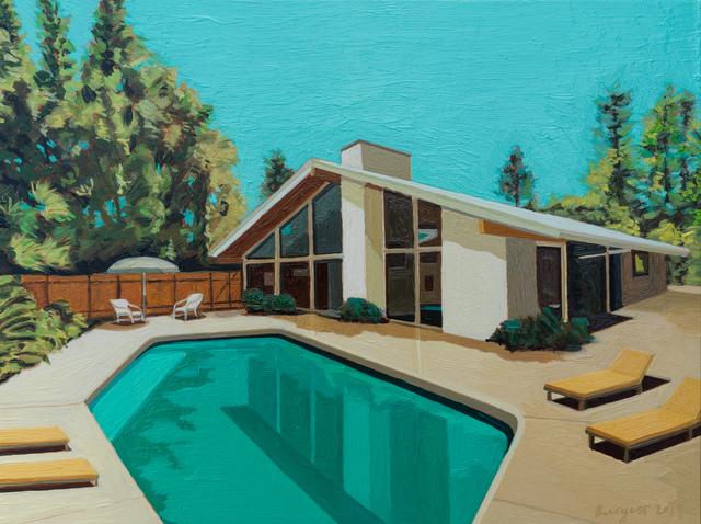, 'Ranch House with Yellow Sun Chairs,' 2019, Cynthia Corbett Gallery