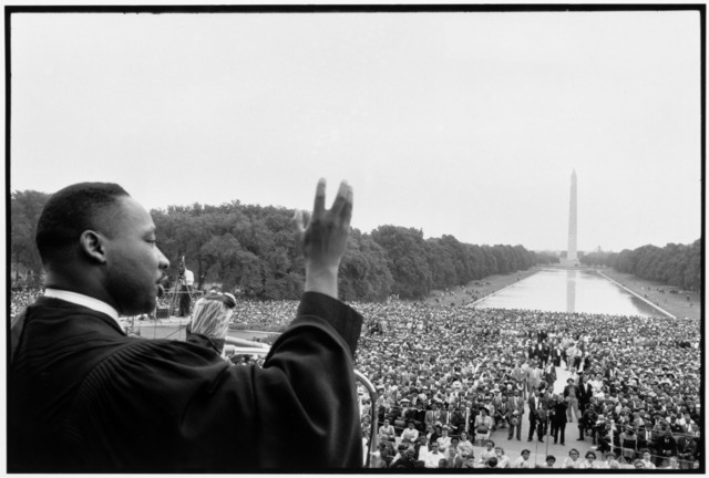 , 'Martin Luther King speaking to the crowds.,' 1957, Magnum Photos