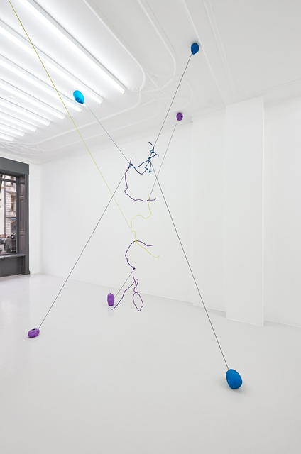Jessica Buhlmann, 'When Can I Fly?', 2021, Installation, Steel, rope, ceramics, galerie burster