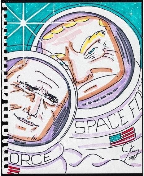 Jim Carrey, 'Space Force', 2018, Maccarone