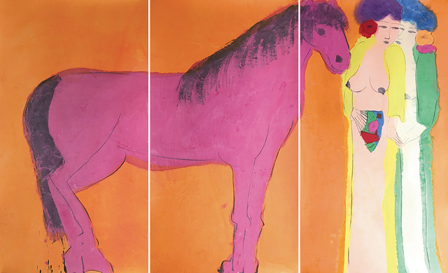 , 'Two Oriental Beauties with a Purple Horse,' 1980s, Alisan Fine Arts