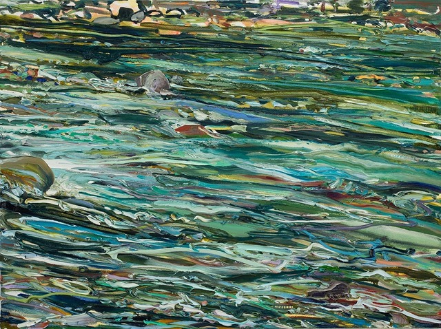 Lilian Garcia-Roig, 'Cumulative Nature: Teal Rush', 2019, Painting, Oil on canvas, Valley House Gallery & Sculpture Garden
