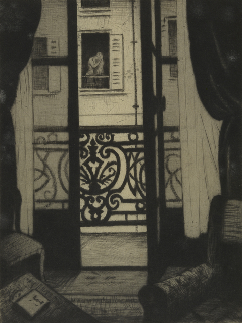 , 'From a Paris Window,' 1922, Osborne Samuel