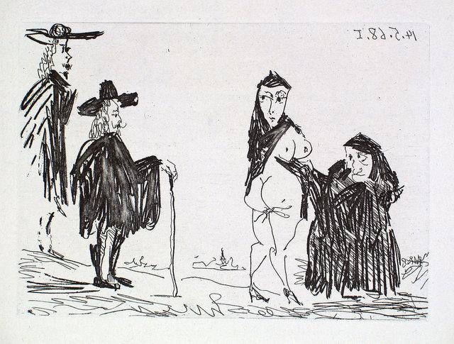 Pablo Picasso, 'La Célestine en Action: Racolage', 1968, Print, Etching and aquatint, Goldmark Gallery