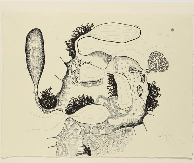 Carroll Dunham, 'Untitled (12.4.90)', 1990, Drawing, Collage or other Work on Paper, Ink and graphite on paper, James Barron Art
