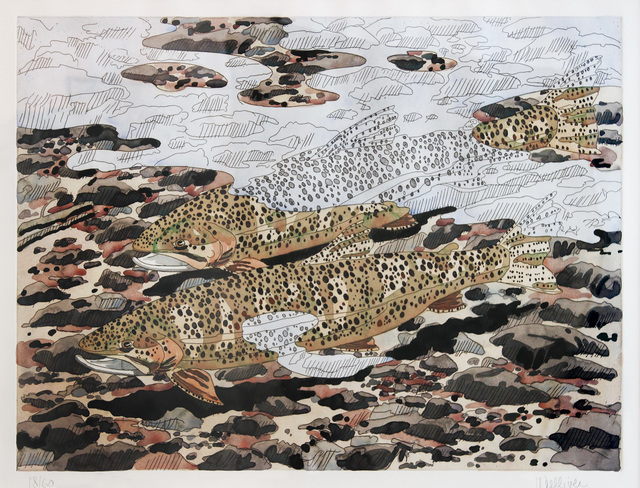 Neil G. Welliver, 'Trout and Reflections', 1980, Alexandre Gallery