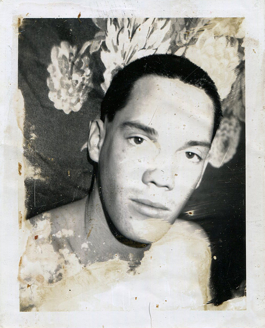 , 'Untitled (Close up of Man in Front of Floral Fabric),' early 1980s, ClampArt
