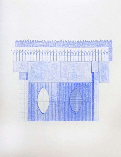Seher Naveed, 'Gate 4 (High Gate Series)', 2018, Drawing, Collage or other Work on Paper, Pencil on paper, Aicon Gallery