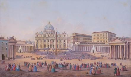 The Piazza San Pietro, Rome