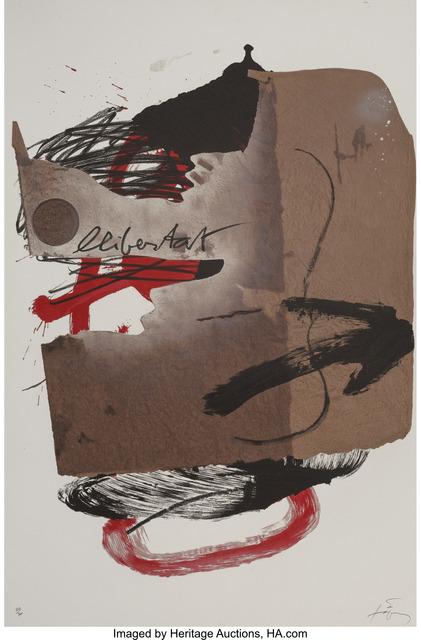 Antoni Tàpies, 'Arrow, from Official Arts Portfolio of the XXIVth Olympiad, Seoul, Korea', 1988, Heritage Auctions