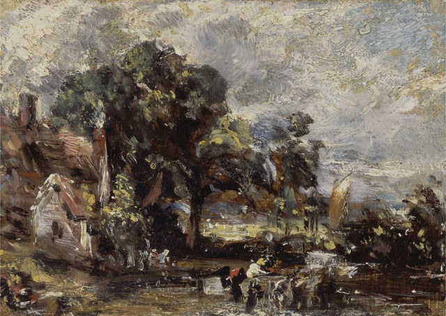 """John Constable, 'Sketch for """"The Haywain""""', ca. 1820, Yale Center for British Art"""