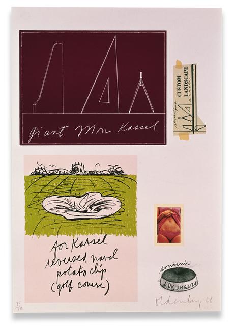 Claes Oldenburg, 'Notes (Kassel)', 1968, Gemini G.E.L. at Joni Moisant Weyl