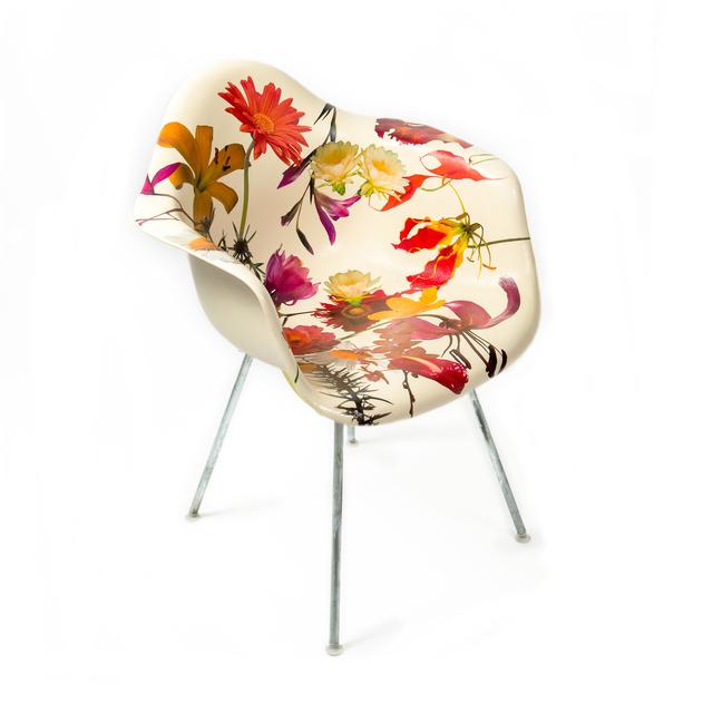 Phillip Estlund, 'Genus Chairs (Bloom Chair)', 2013, Design/Decorative Art, Collage on Eames Chair with Urethane Paint, Grey Area