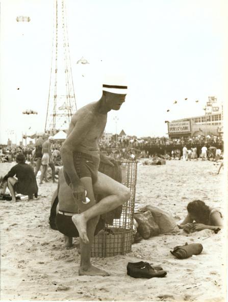 Helen Levitt, 'Man at Beach, Coney Island, NY', 1950c/1950c, Contemporary Works/Vintage Works