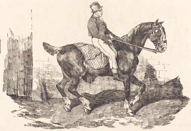 Théodore Géricault, 'Groom Mounted on a Carriage-Horse (Cheval de carrosse monte par un palfrenier)', 1820, National Gallery of Art, Washington, D.C.