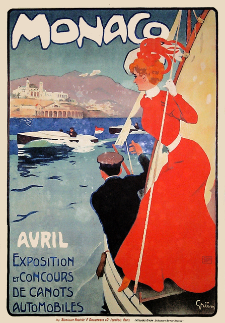 , 'Monaco Avril - Exposition et Concours de Canots Automobiles - Speedboat,' 1905, Omnibus Gallery