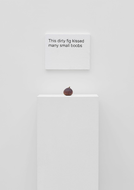 , 'This dirty fig kissed many small boobs,' 2016, carlier | gebauer