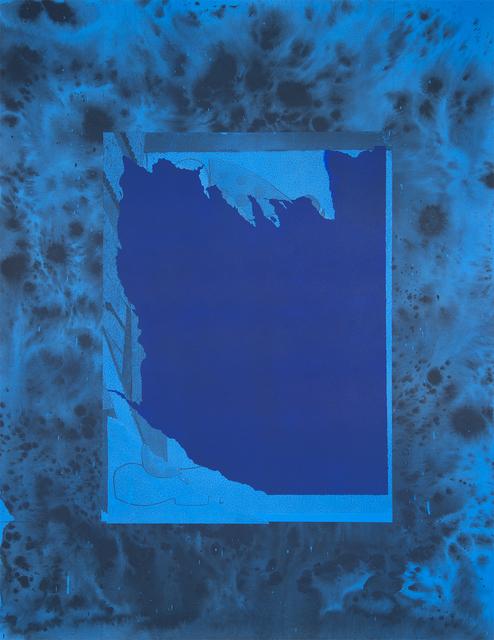 , 'Torn Image in Cerulean,' 2015, Rodolphe Janssen