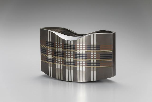 ", 'Vase ""Plaid"",' 2017, Onishi Gallery"