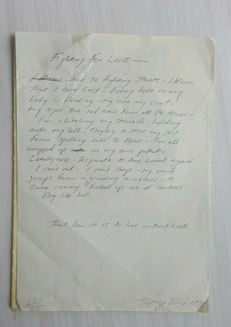 "Tracey Emin, 'TRACEY EMIN ""FIGHTING FOR LOVE"" VINTAGE PRINT', 1998, Arts Limited"