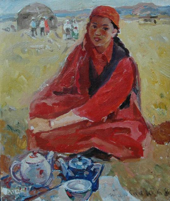 Karl Tanpeter, 'Tea', 1961, Painting, Oil on canvas, Galerie Lilja Zakirova