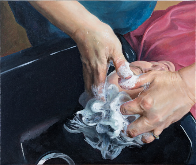 Victoria Moon Joyce, 'Hairdresser - Kim Morgan', 2018, Painting, Oil on canvas, Gallery 78