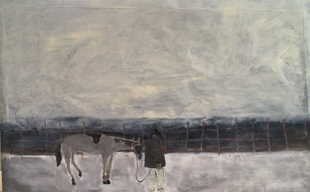 , 'Walking The Track / Yellow Morning,' ca. 2018, Emmanuelle G Gallery