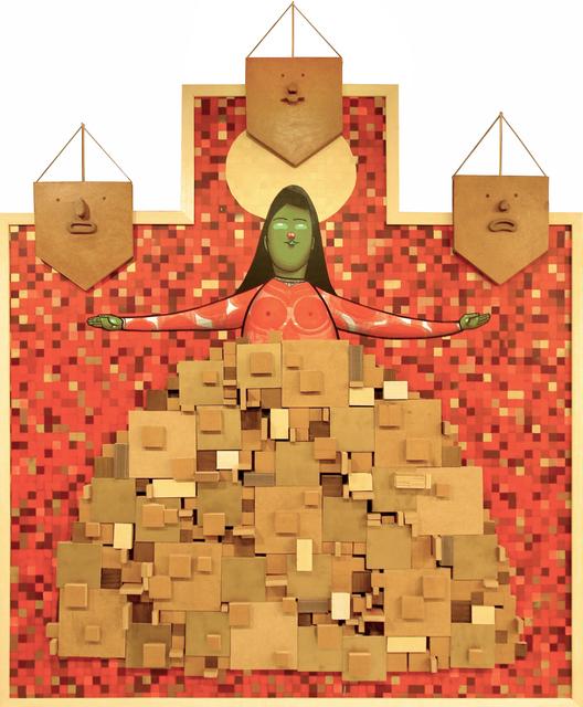Finok, 'Fardo', 2014, Sculpture, Mixed media on wood panel, Ruttkowski;68