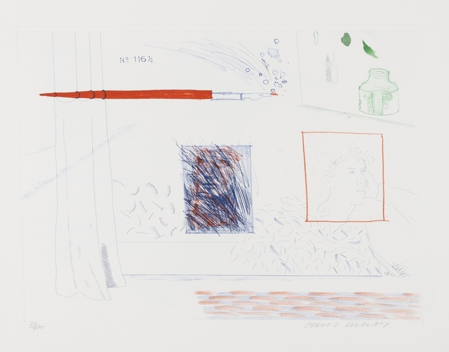 David Hockney, 'Etching is the subject (S.A.C 191)', 1976-77, Forum Auctions