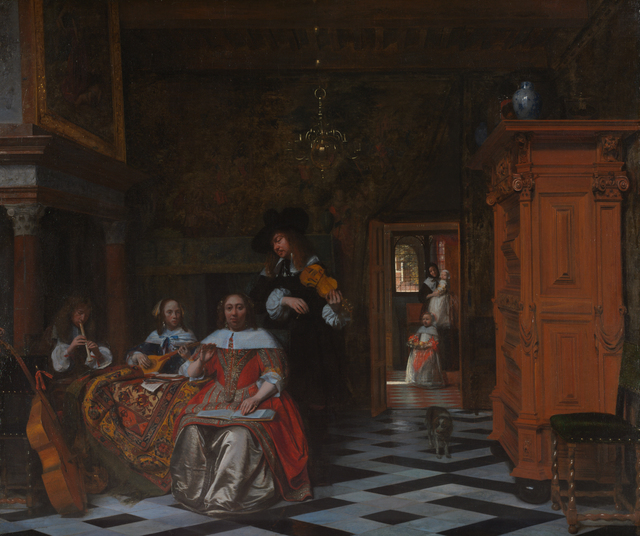 , 'Portrait of a Family Playing Music,' 1663, Rijksmuseum