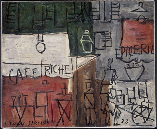 Joaquín Torres-García, 'Cafe Riche', 1929, Galeria Sur