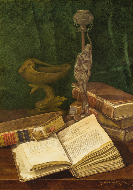 , 'A Vision (Still Life of Books and Statue),' After 1900, Avery Galleries