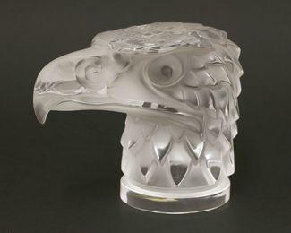 A Lalique 'Tête d'Aigle' eagle head car mascot