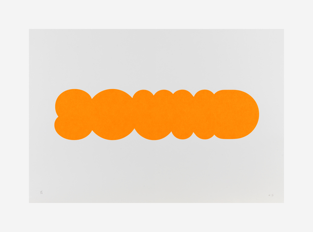 , 'SOUND (orange),' 2014, Galerie Joy de Rouvre