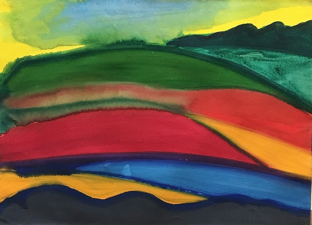 David Hayes, 'Hillside Patterns', 1985, Lawrence Fine Art