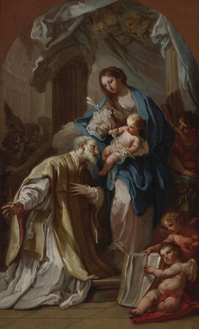 Sebastiano Conca, 'The Madonna Appearing to St. Philip Neri', 1740, Indianapolis Museum of Art at Newfields