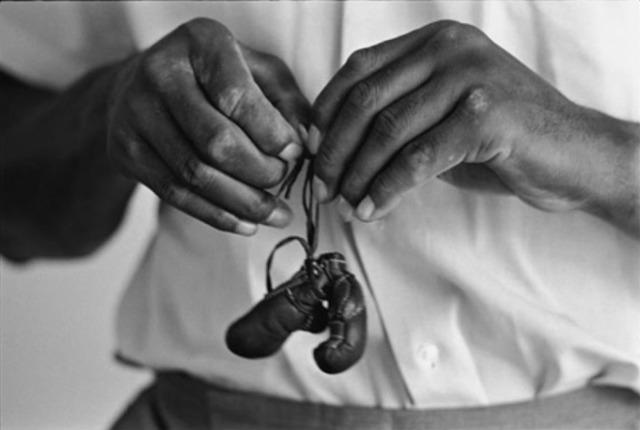 , 'Muhammad Ali, with mini gloves, Louisivill, KY,' 1963, Atlas Gallery