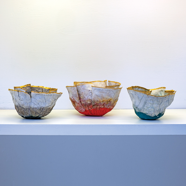 , 'Red, Green and Blue Flower Bowls,' 2018, browngrotta arts