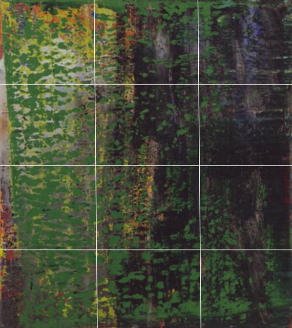 , 'Destroyed Richter Grid N.2  A-L (12),' 2016, Magdalena Sawon