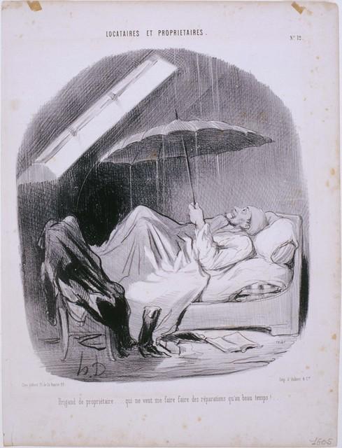 Honoré Daumier, 'Locataires et Propriétaires: Brigand de Propriétaire...', 1847, Phillips Collection