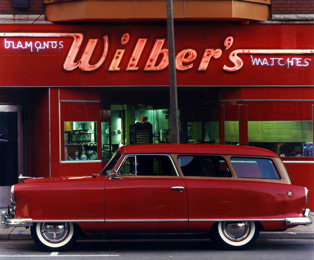 , '1953 Nash Rambler, Wilber's Jewelers, Johnson City, NY,' ca. 1987, Laurence Miller Gallery
