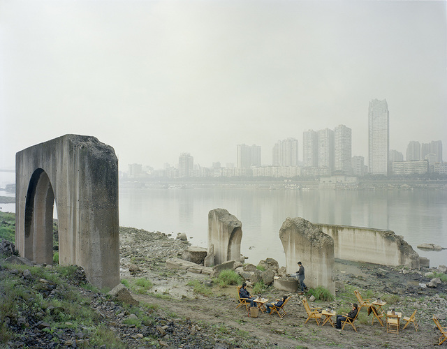Zhang Kechun, 'Under the abandoned pier 江边喝茶的人', 2014, Photography, Achival Inkjet Print, Three Shadows +3 Gallery