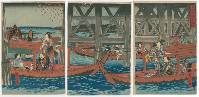 , 'Enjoying the evening Cool under the Ryogoku Bridge in the Eastern Capital,' 1847-1848, The Art of Japan