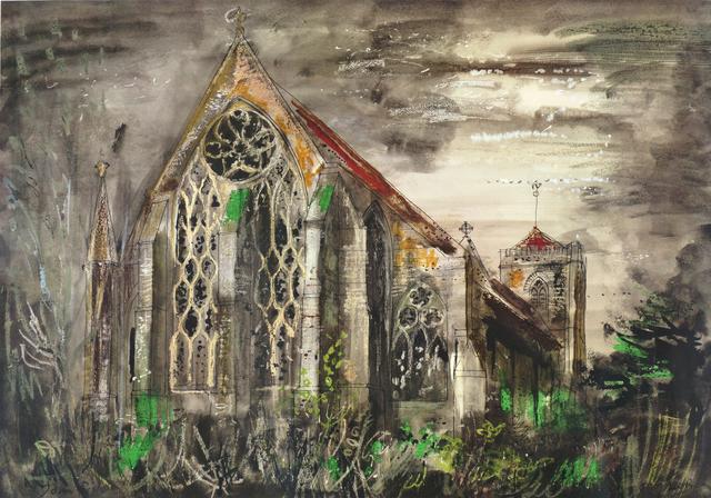 John Piper, 'Dorcester Abbey', Roseberys