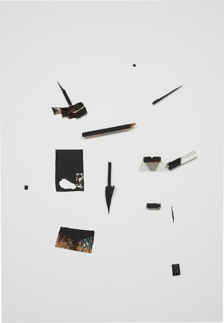Richard Aldrich, 'Untitled', 2011-2012, Mixed Media, Painted rubber, wood, cardboard and cloth on linen, Phillips