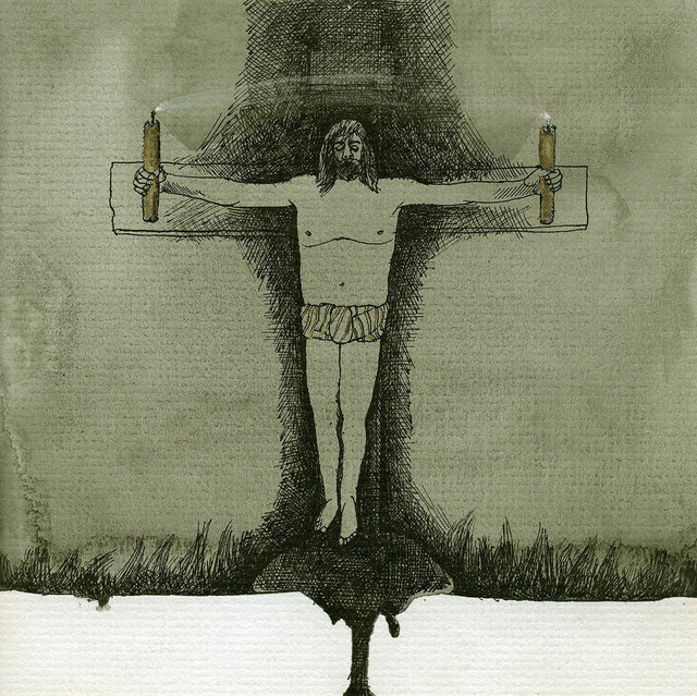 ", 'Drawing #52 from the cycle of 150 drawings ""Crucifixion for the Fisherman"",' 1991-1992, SARIEV Contemporary"
