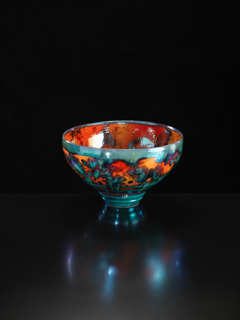 , 'Large Vermillion Bowl,' 2018, Oxford Ceramics Gallery
